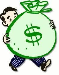 Gros sac billets argent bonus